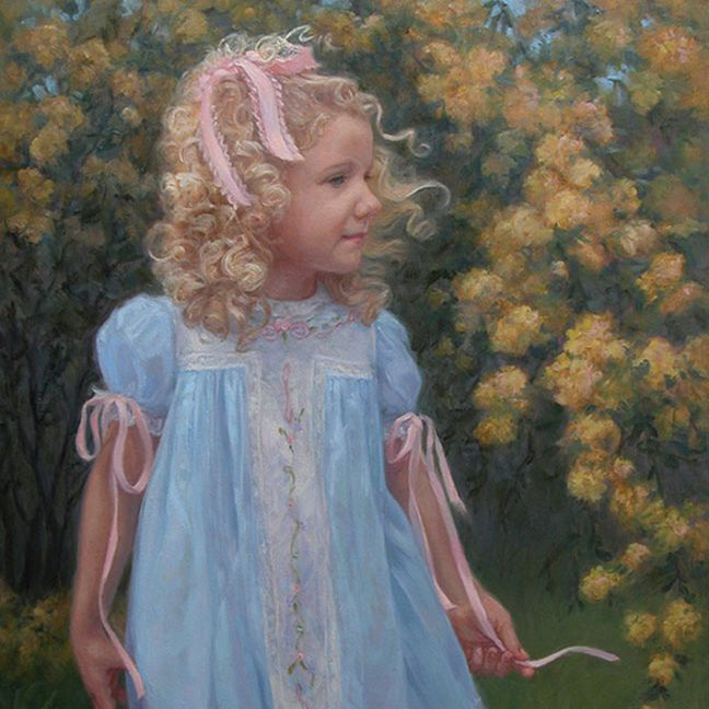 KCrenshaw - Portrait of Sara Helen  oil on linen 28x22