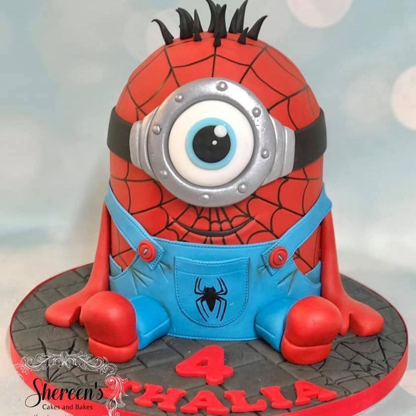 Spiderman Minion Birthday Cake