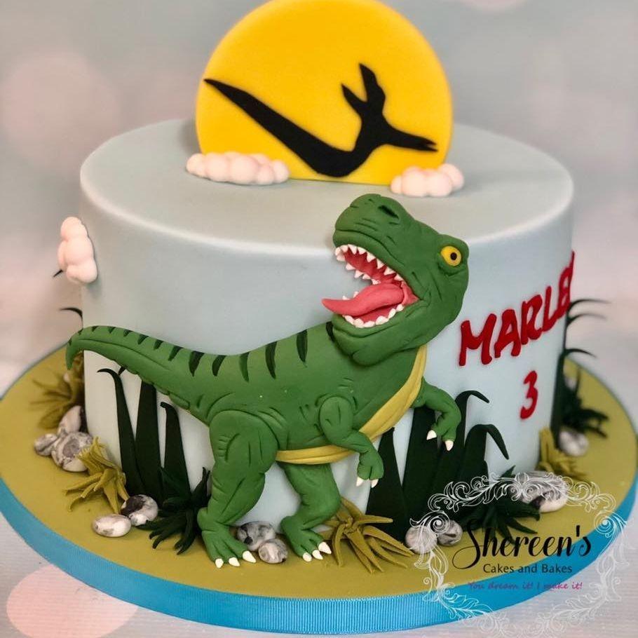 Birthday Cake T-Rex T Rex Tyrannasaurus Rex Dinosaur 2D