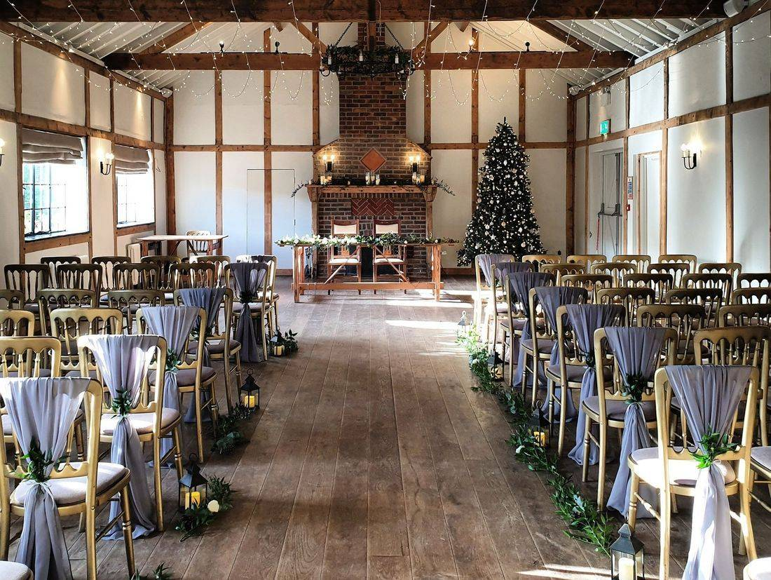 A beautiful winter wedding at Burley Manor Barn