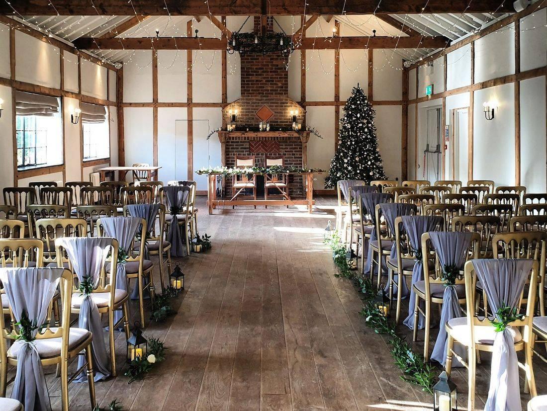 A beautiful winter wedding at Burley Manor Barn