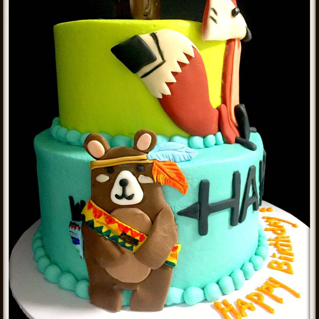 wild one birthday cake first birthday animals bear and fox cake