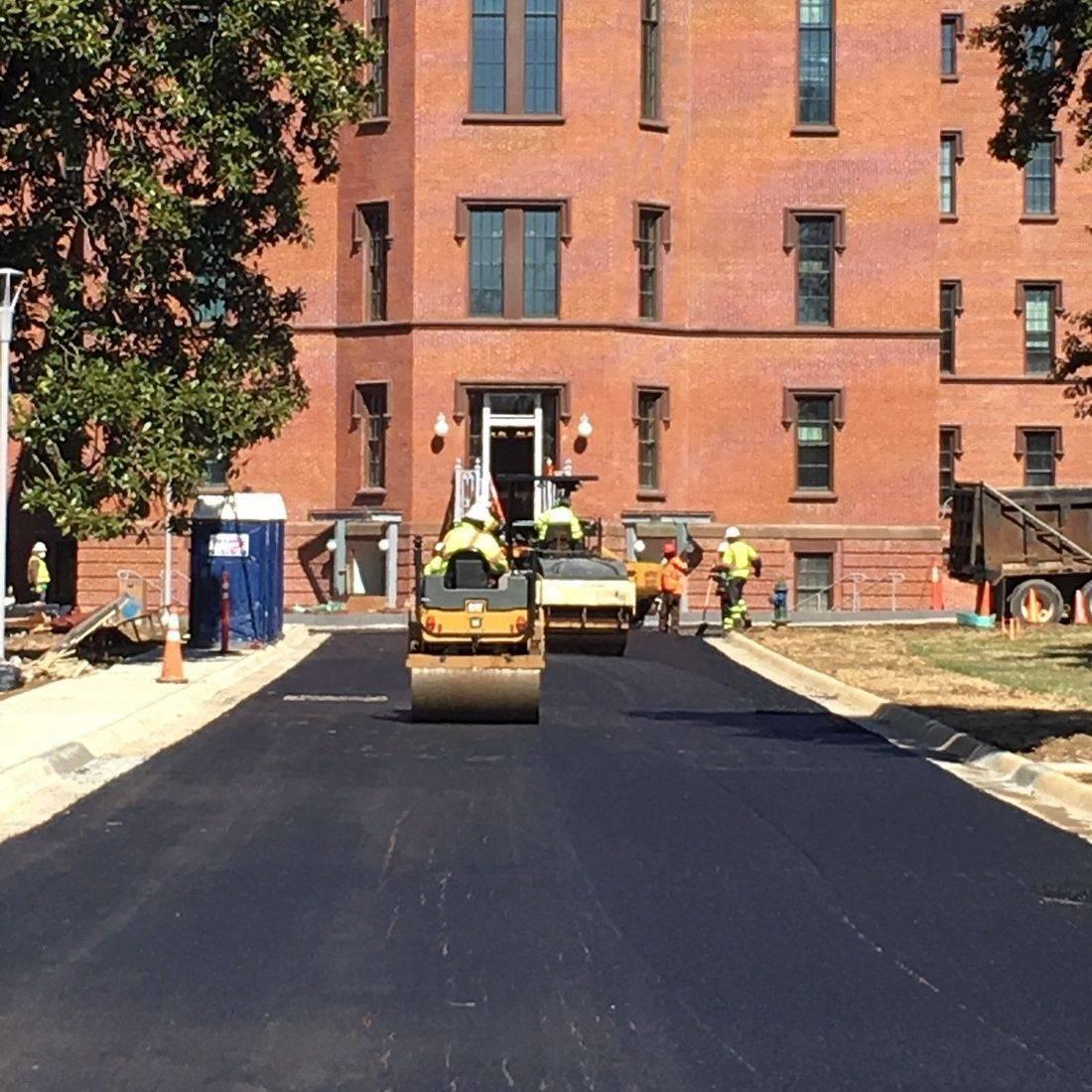 asphalt paving at Historic  St. Elizabeths Hospital Campus