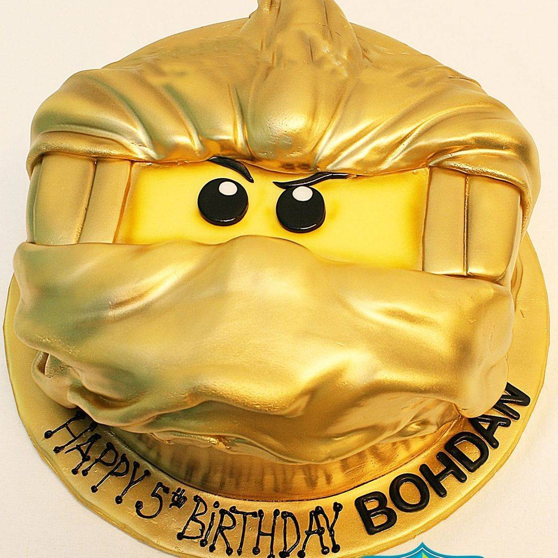 Custom Gold Legoman Cake Milwaukee