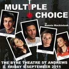 Poster for stage play, Multiple Choice.