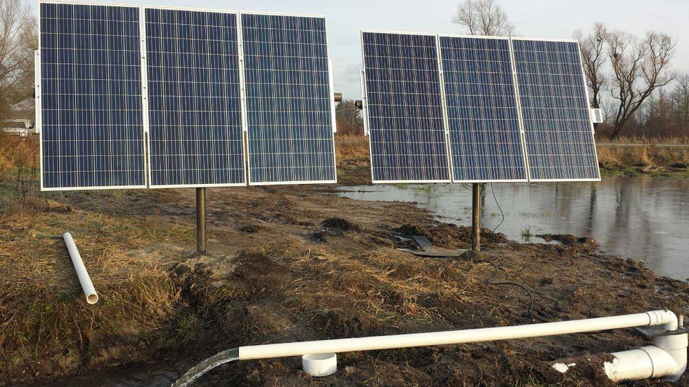 solar water pumps, solar lift stations, solar dewatering