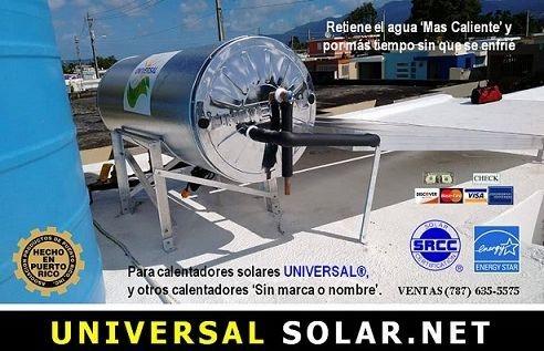 Tanque calentador solar UNIVERSAL