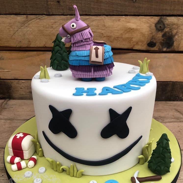 birthday cake fortnite marshmellow first aid pinata pick axe pickaxe