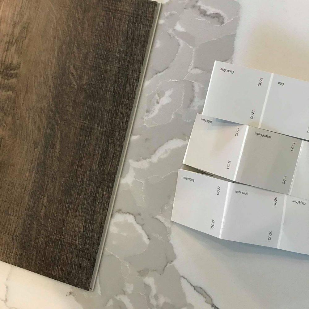 Samples for interior design, living room & kitchen