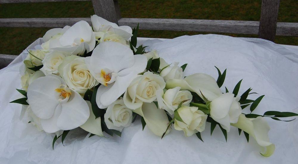 Orchid Rose Shower Bouquet
