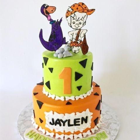 Flintstone Birthday Cake