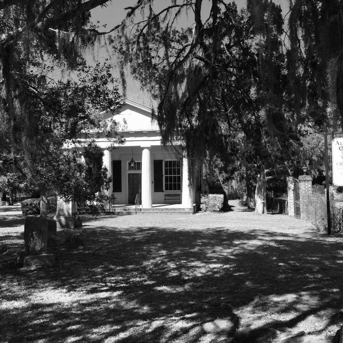 Gardens, Church, Cemetery, Pawleys Island, South Carolina, Building, Trees