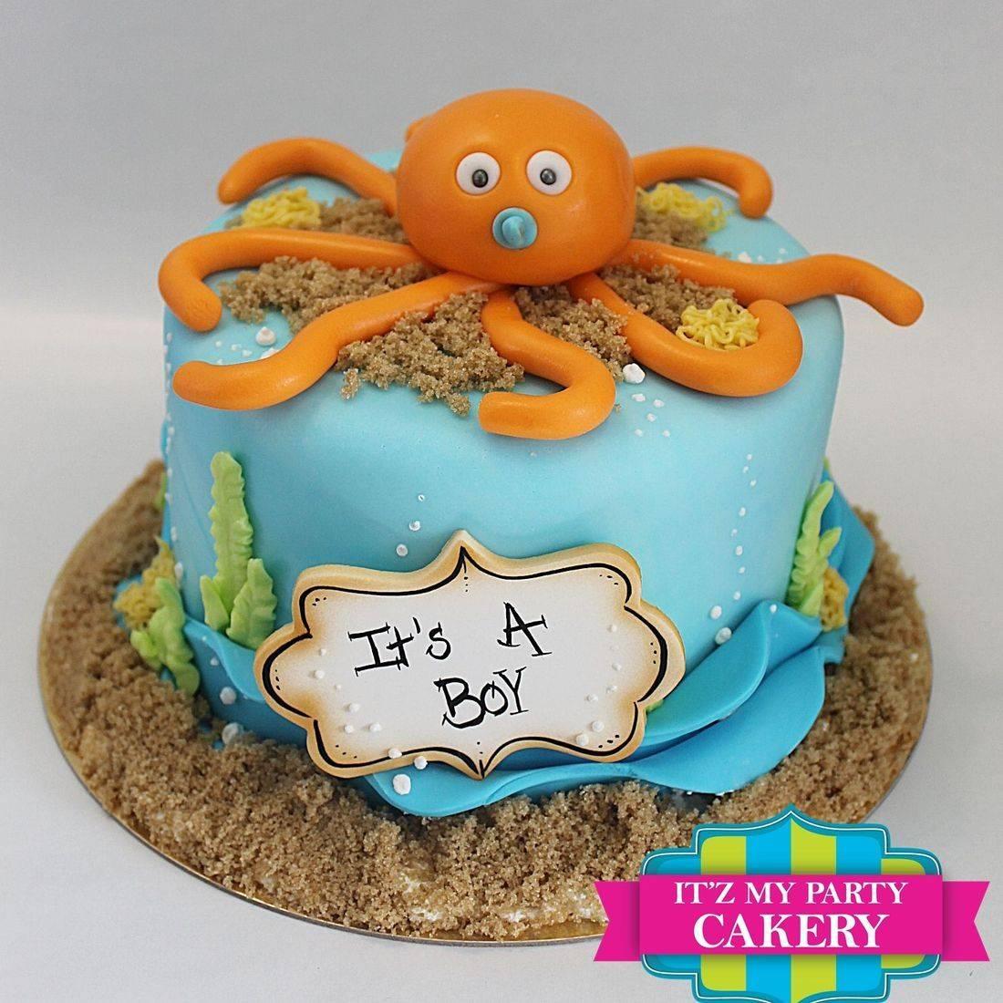 Under the sea octopus baby shower cake milwaukee