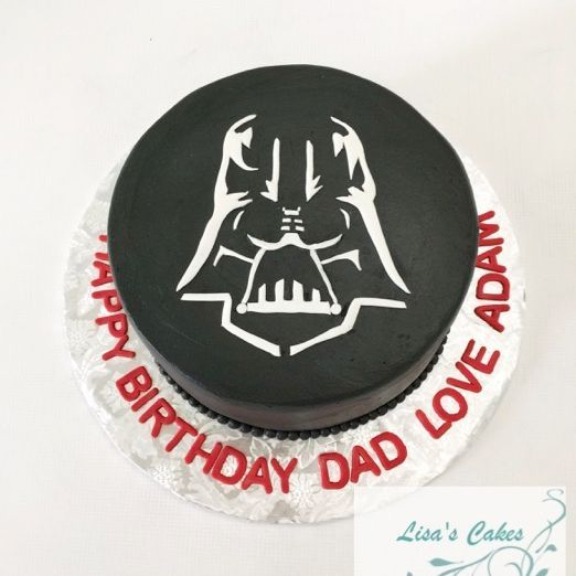 Darth Vader Star Wars Birthday Cake