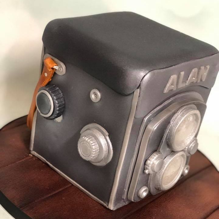 Birthday Cake Vintage Camera