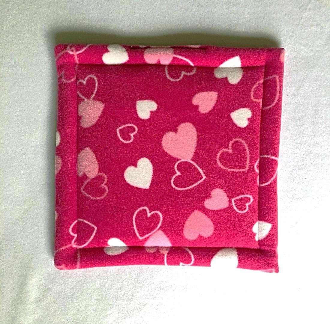 pink twinkle guinea pig lap pad - show pen pad