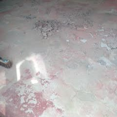 Concrete floor needing repairs shale removal