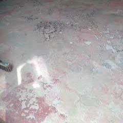 Concrete floor needing repairs shale removal