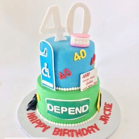 40th Birthday Cake Old Age Cake