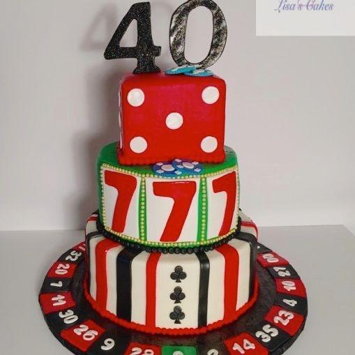 Las Vegas Gambling Cake