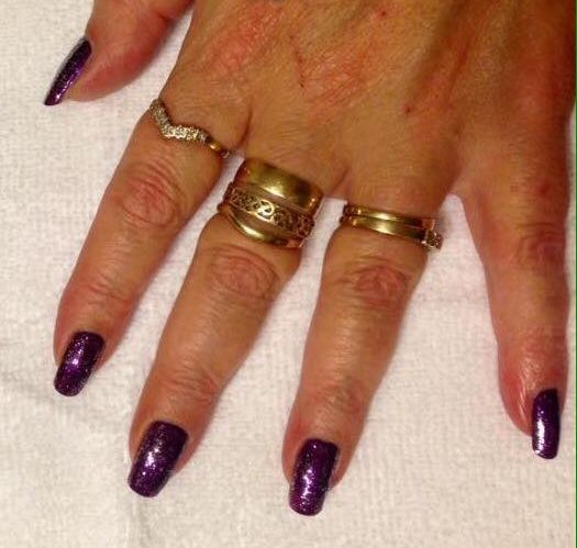 Nails by student after attending my Manicure Course