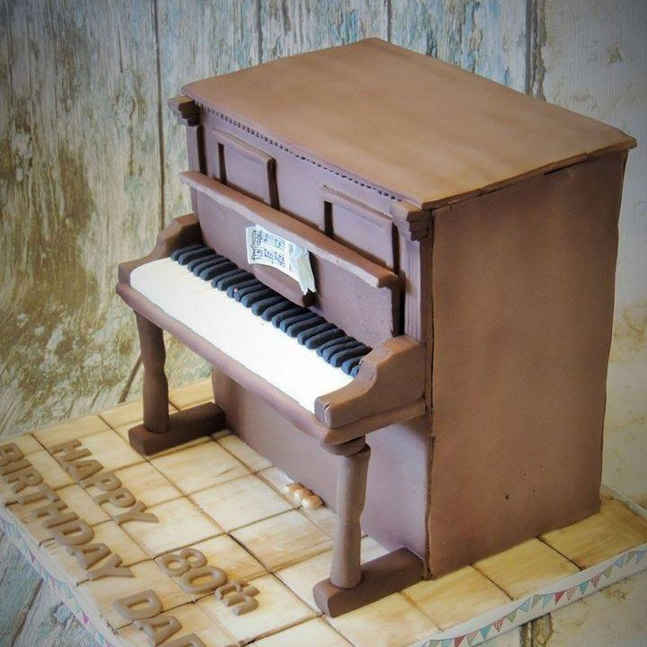 Upright Wood Piano Novelty Birthday Cake Celebration