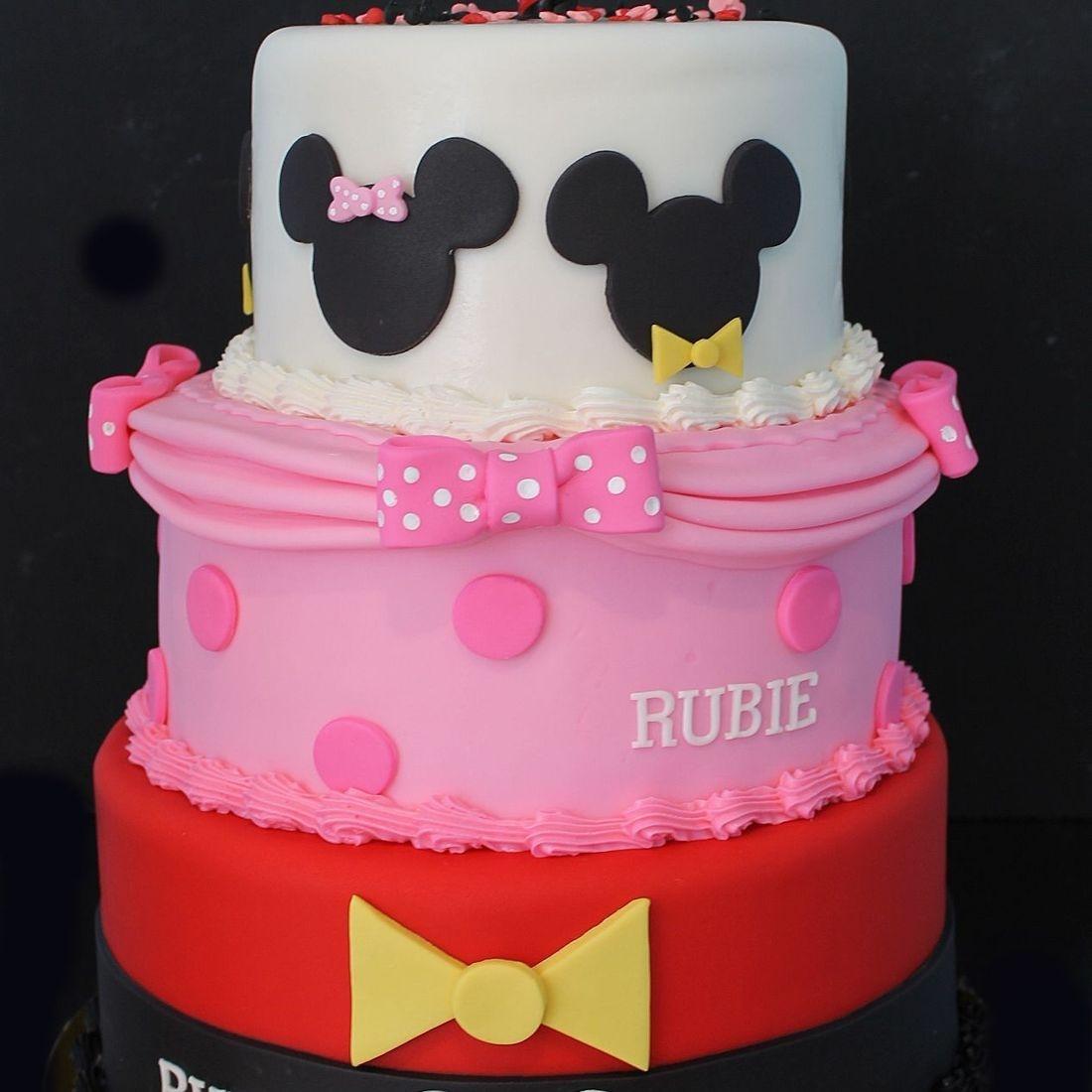 Custom  Mickey Minnie Cake  Milwaukee