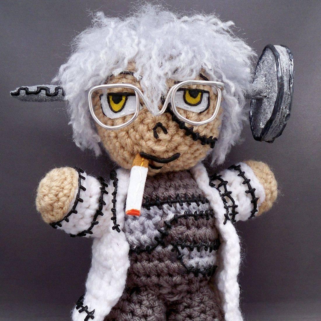 Dr. Stein, Soul Eater, amigurumi, plush, doll, anime, otaku, handmade, crochet