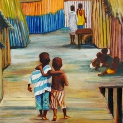 painting africa boys