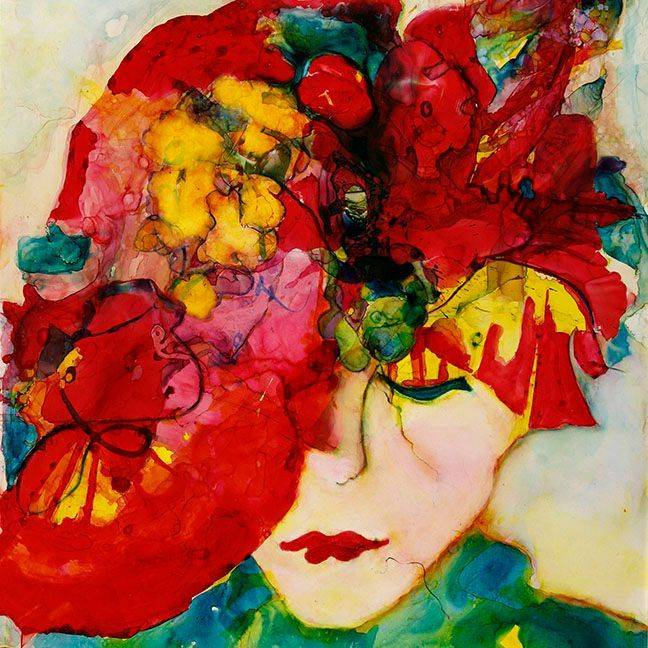 MRozear - Lady in Red   watercolor