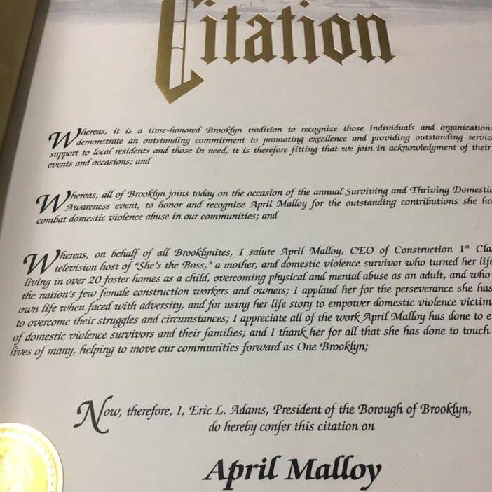 April Malloy News