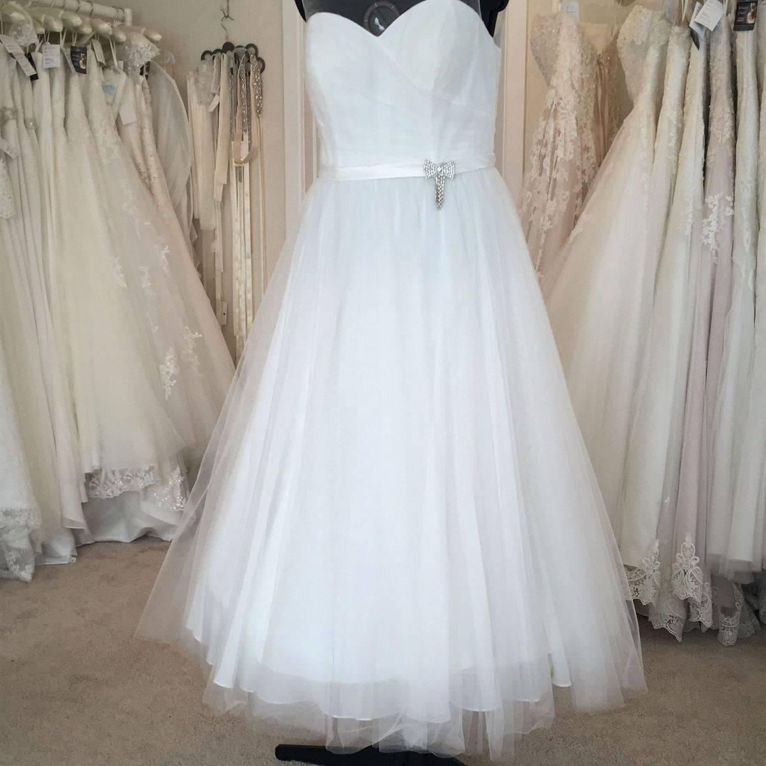 T length wedding dress
