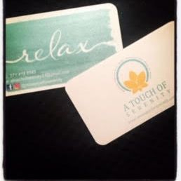 Custom business cards massage therapy studio in Alexandria Virginia