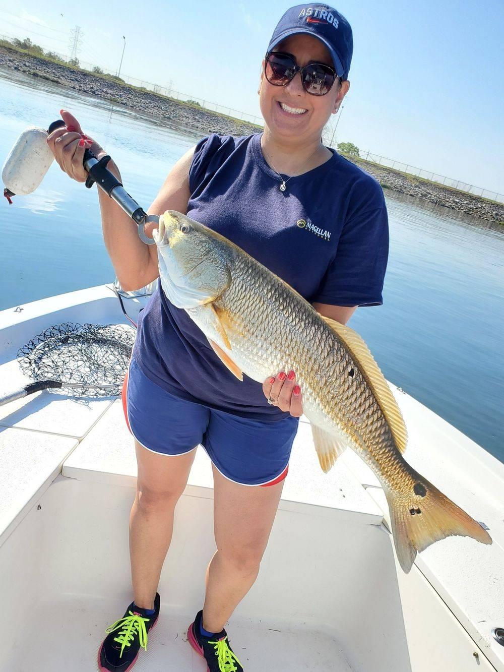 Fishing Redfish Calaveras Lake San Antonio