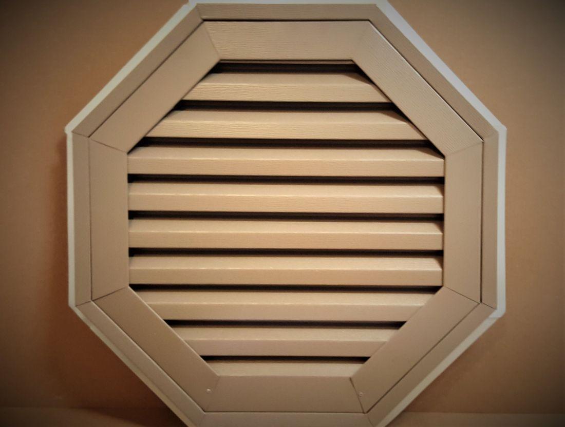 Aluminum octagon gable vent