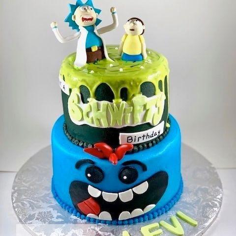 Rick and Morty Birthday Cake