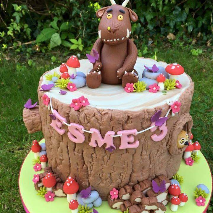 Gruffalo Mouse Logs Snake Owl Cake Tree Stump Birthday Child Kids
