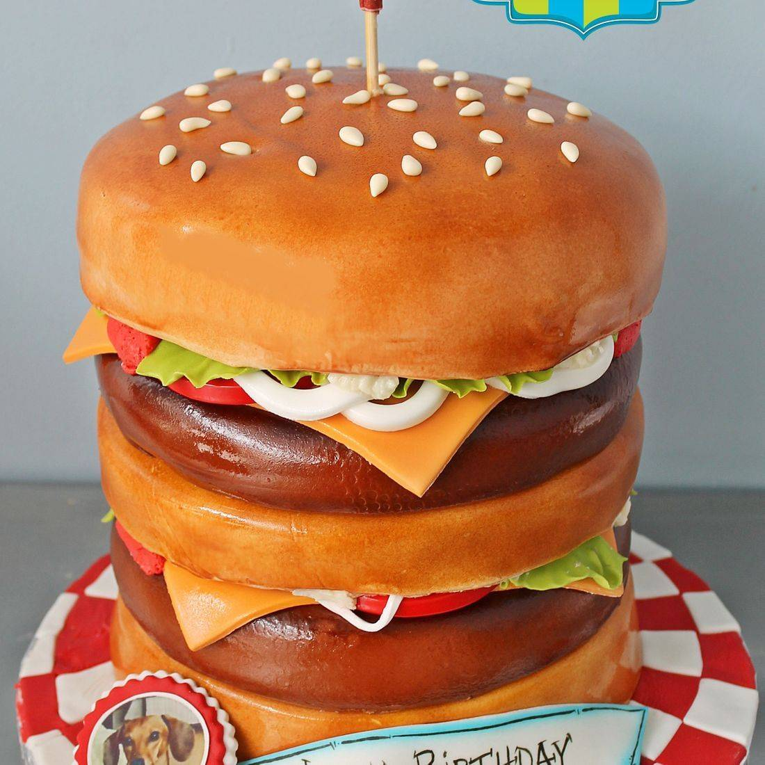 Double Cheeseburger Cake Carved Dimensional Cake Milwaukee