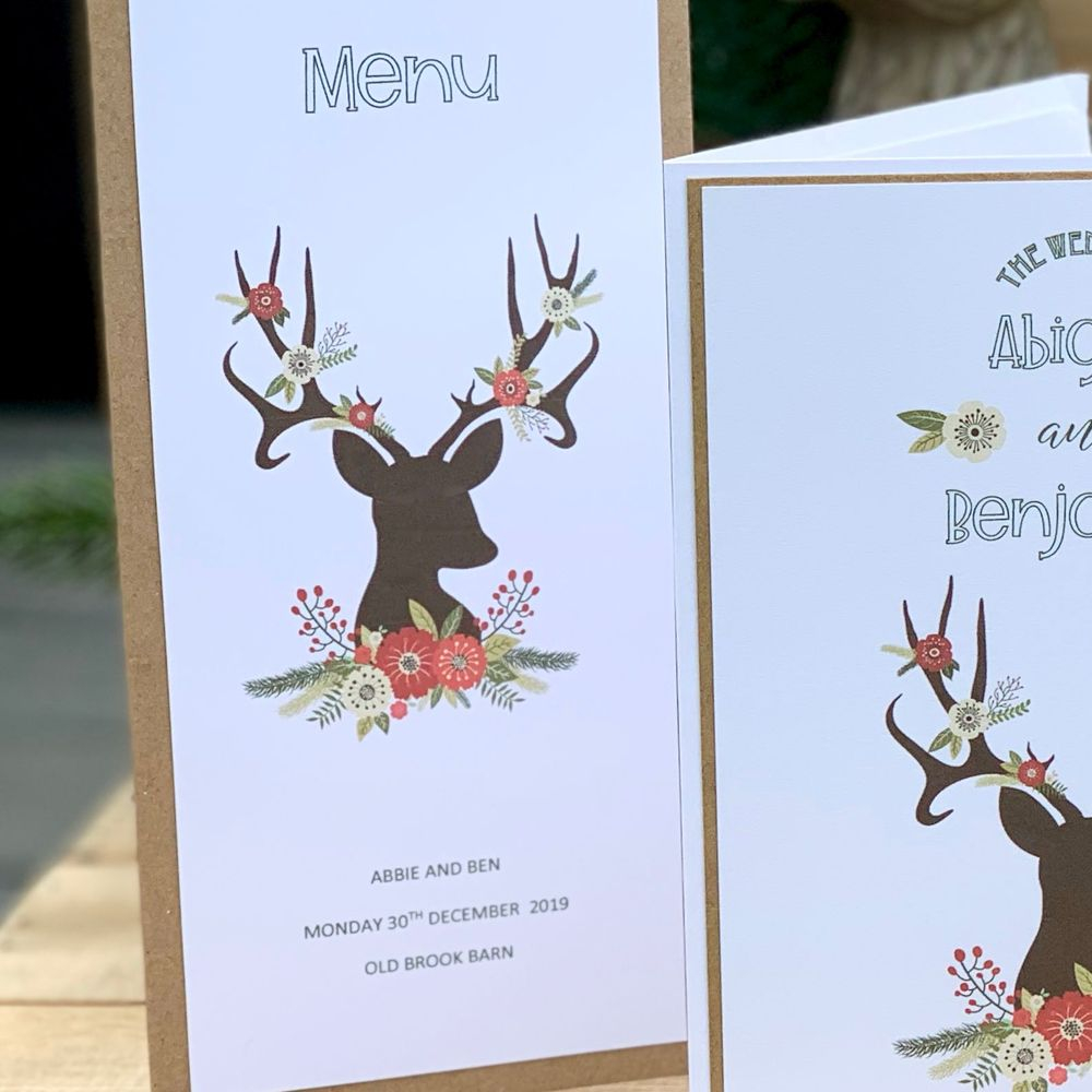 Rustic Stag menu card