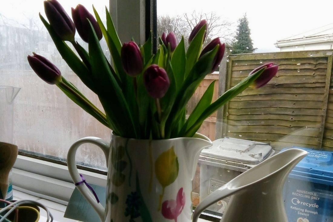 Jug with Tulips Original Photo