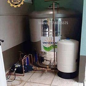 Cisterna instalada interior