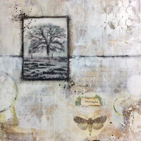 Strength,  Abstract Mixed Media Art by Art And Soul By The Lake; Collage Art; Mixed Media Art