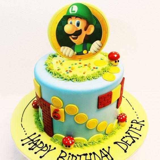 Custom Mario Luigi Cake Milwaukee