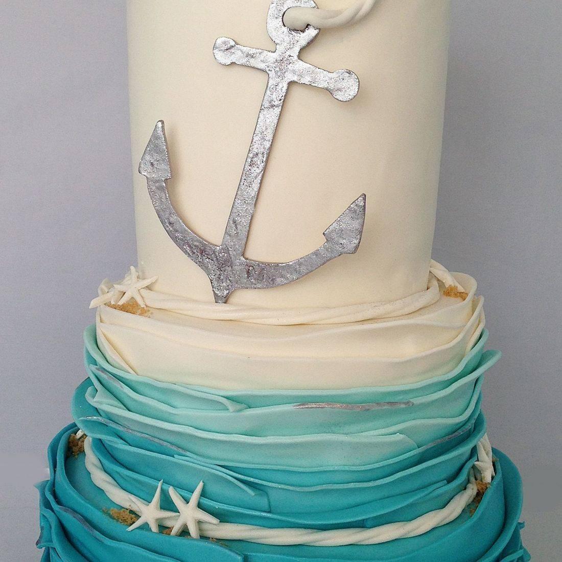 Custom Anchor Wedding Cake  Milwaukee