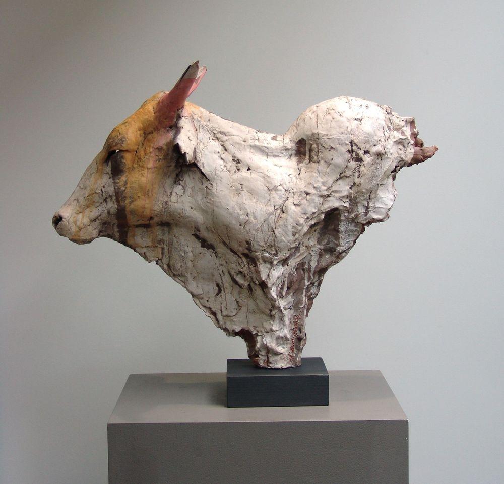 Ceramic indian Cow sculpture