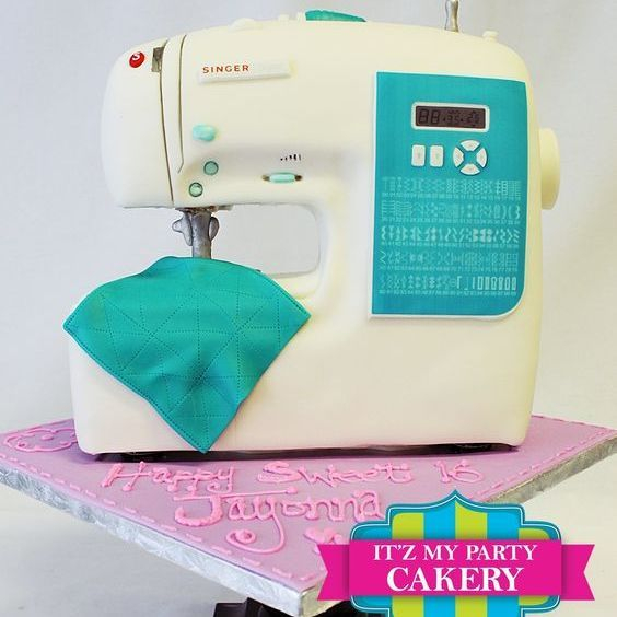 Sewing Machine Dimensional Cake Milwaukee