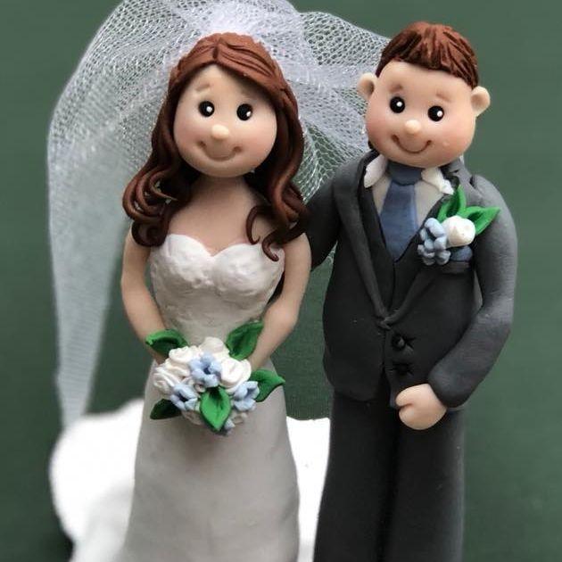 Bride Groom wedding keepsakes topper