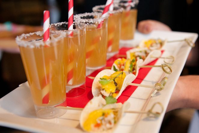 Arista catering tequila and taco minis