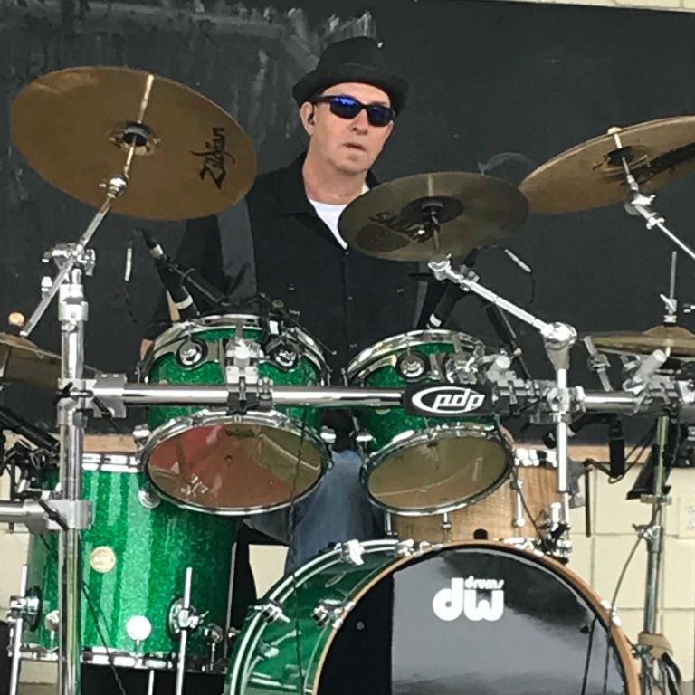 Brian Frew on the Drums