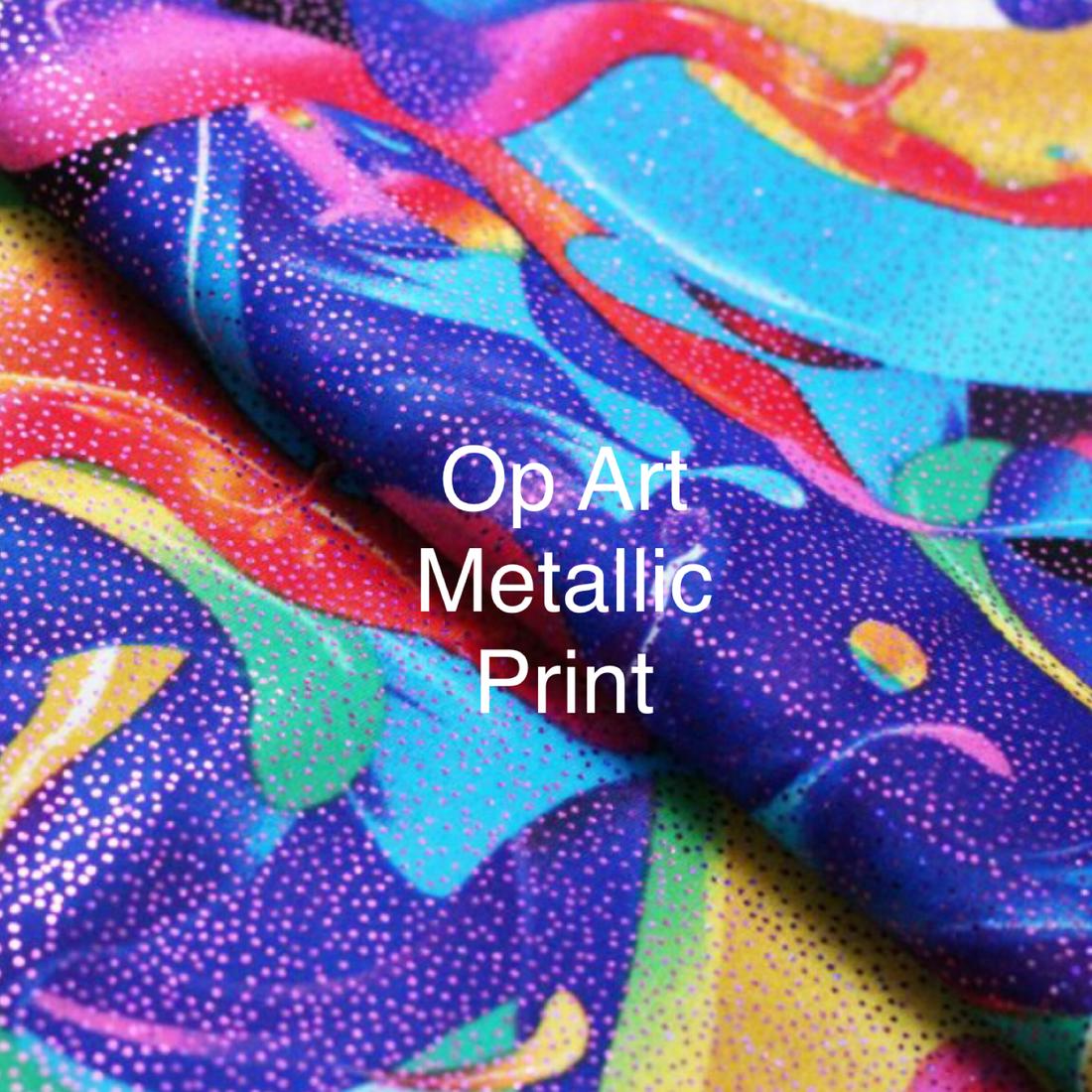 multicolor metallic print